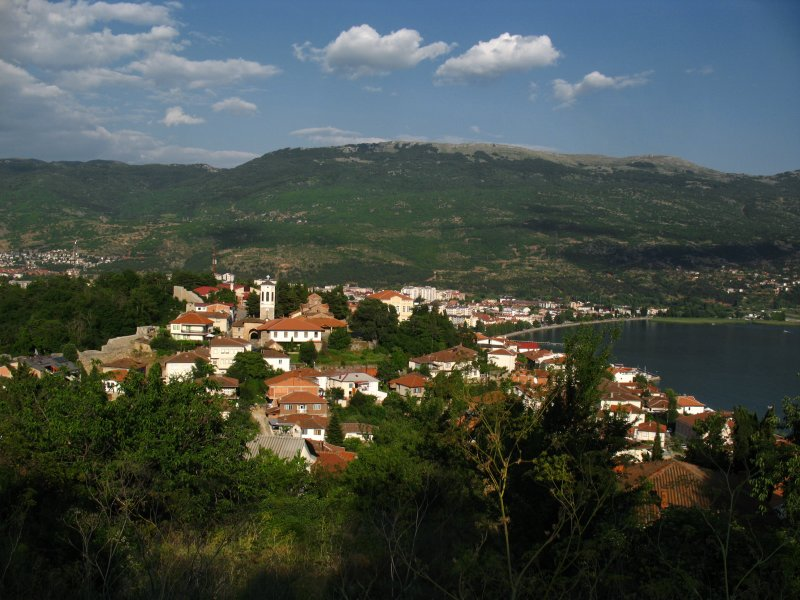 Old town of Ohrid from above