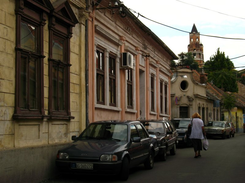 Quiet Central European-style backstreet, Zemun