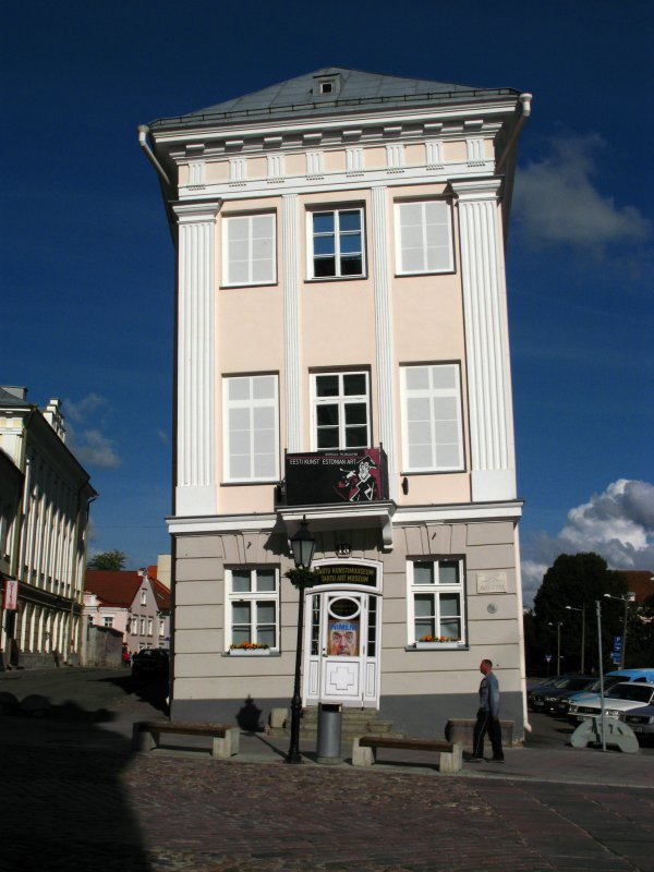 The leaning Art Museum of Tartu