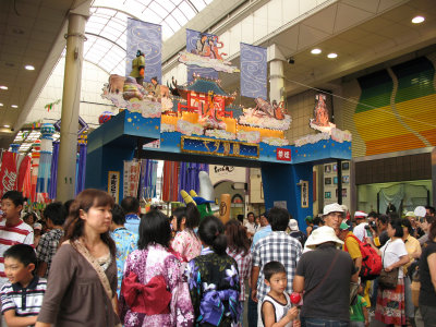 Gate depicting the Tanabata tale