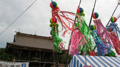 Fukinagashi out front Masumida-jinjas main gate