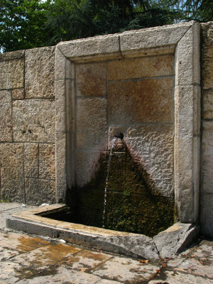 Turkish-style fountain outside Sveti Spas