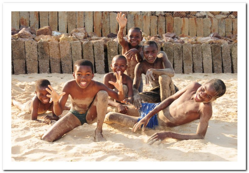 Kids at play on the beach