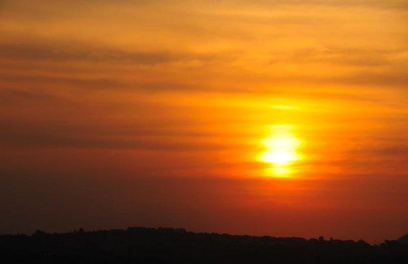 Sunset over Northgate, Johannesburg