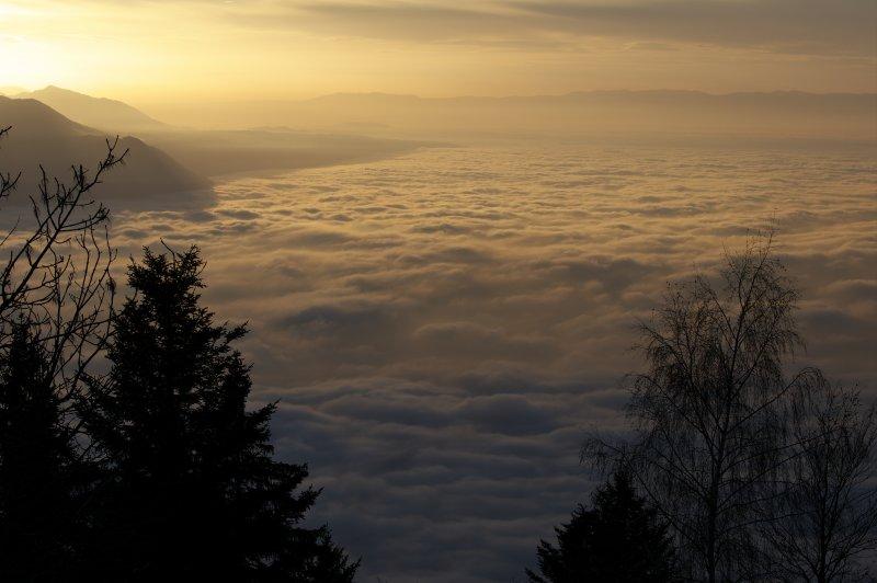 Fog over Lake Geneva
