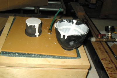 Filled Flask on The Vacuum Table