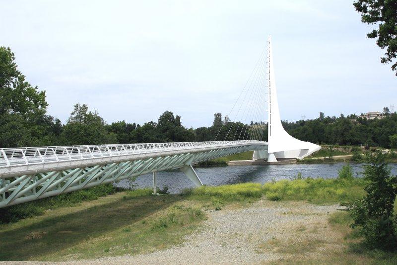 The Sundial Bridge in Redding