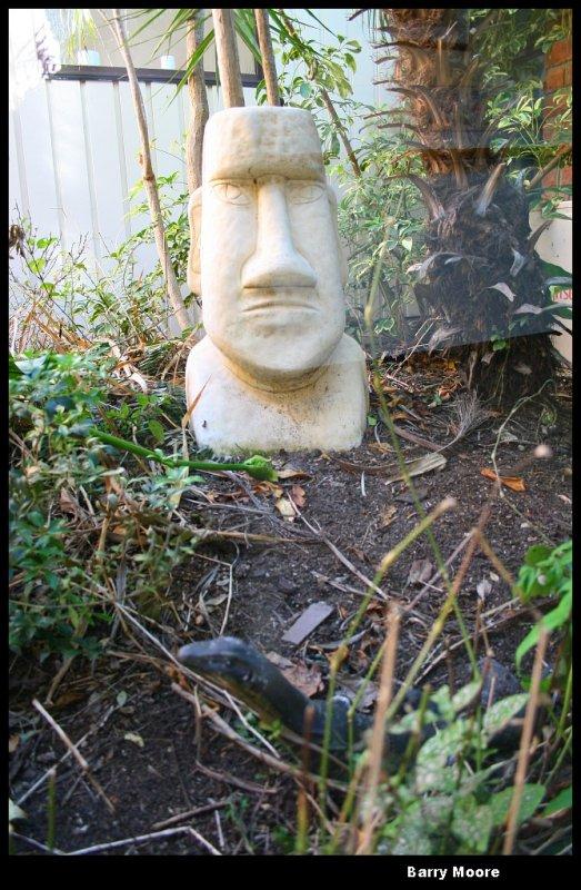 a zephyr statue