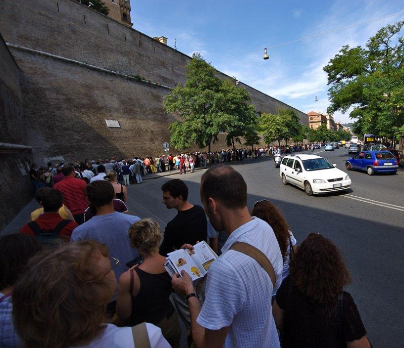 Waiting in line - Vatican Museum Sistine Chapel