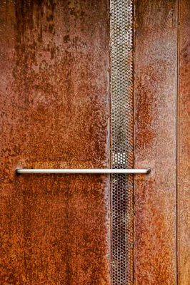 Rusted metal door