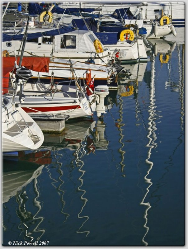 Evening Reflections in Ramsgate Harbour