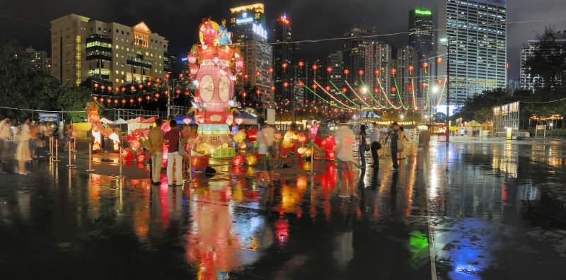 Panorama of the Lantern Show at the Victoria Park