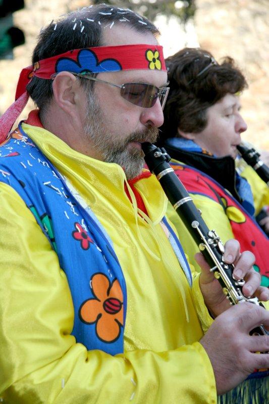 Hippie Clarinet Player