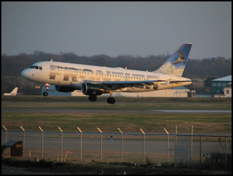 Frontier Airlines Airbus A319 (N909FR) Lucy the Canadian Goose