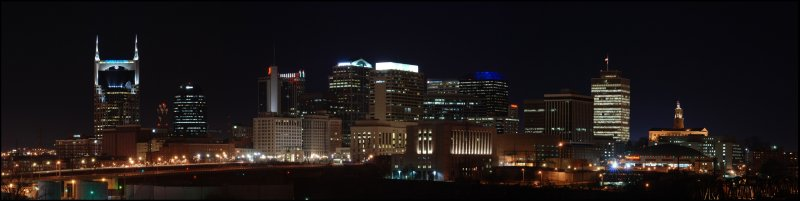 Downtown Nashville from the Days Inn Roof