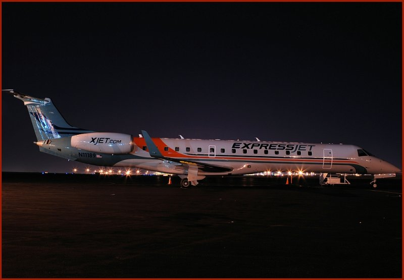 Express Jet Regional Airlines Embraer-145XR (N11189)  **First aircraft in the new regional airline livery**