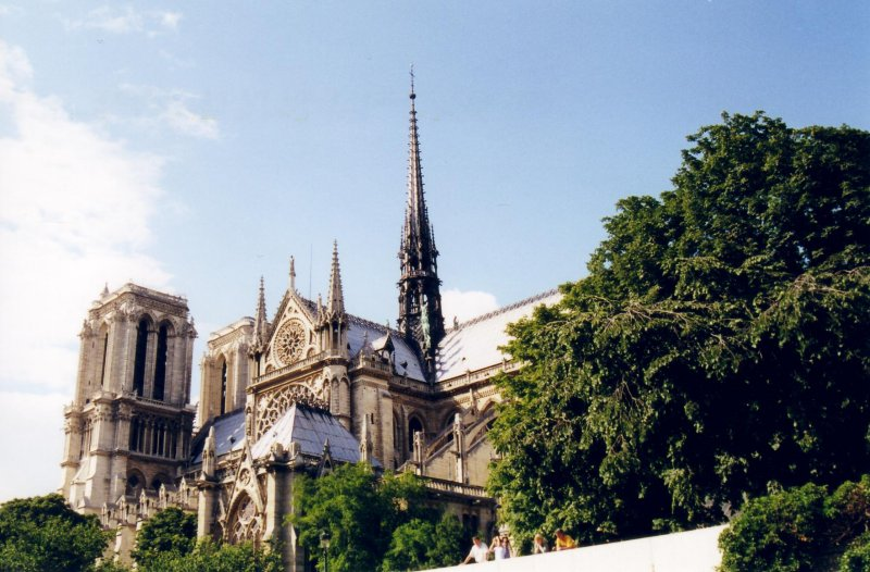 Notre-Dame from Seine River(Paris)
