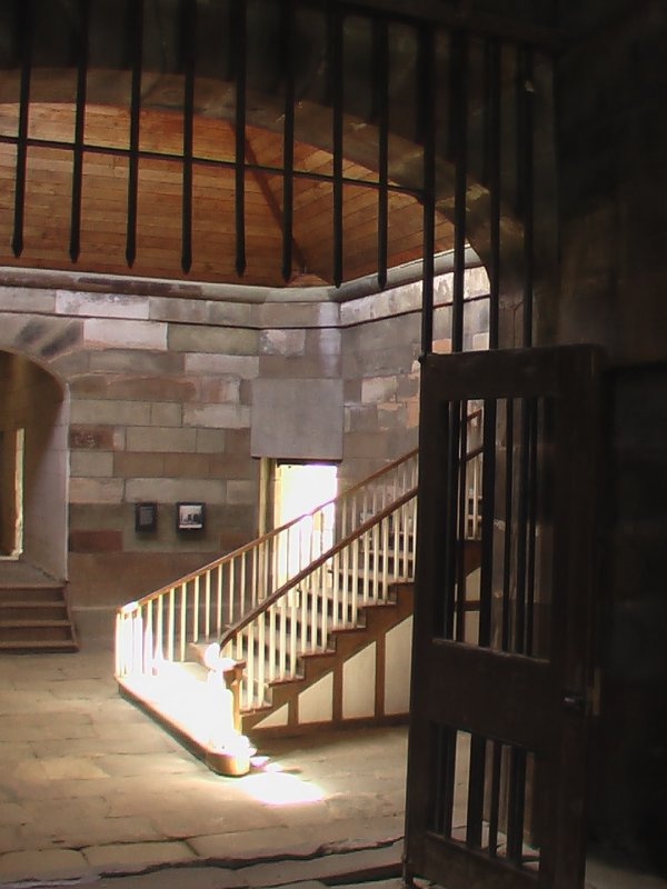 Stair Case inside prison rooms