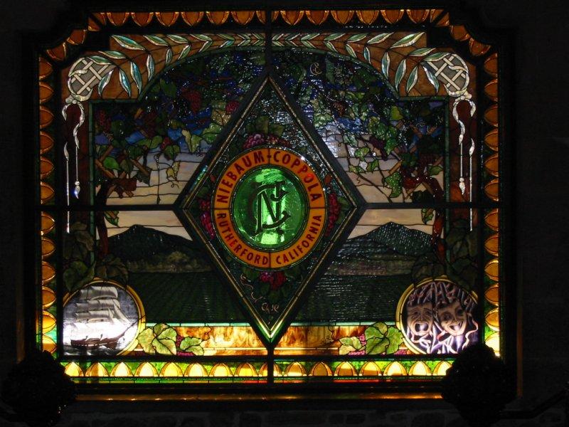 Coppola Winery Stain Glass WIndow