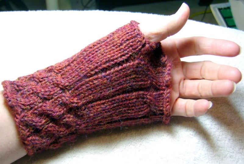 Knitted Mitt Worn