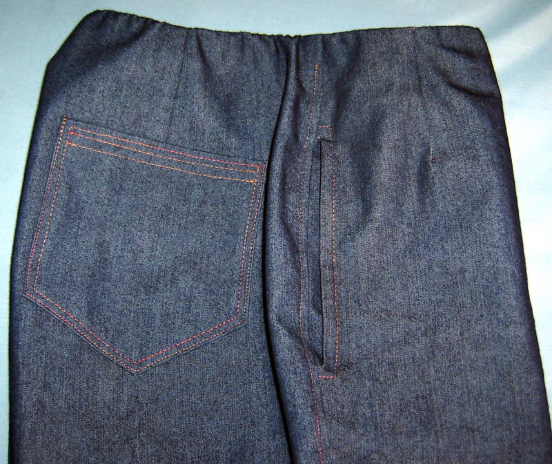 Patch and Inseam Pocket on Jeans