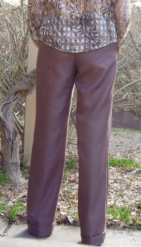 Backview Cuffed Pants