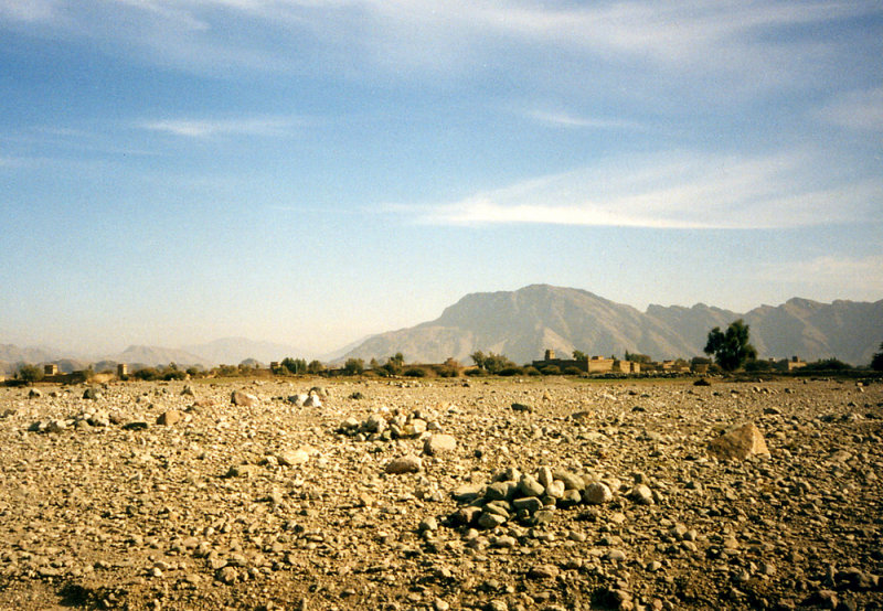Lone fort and hills-FATA