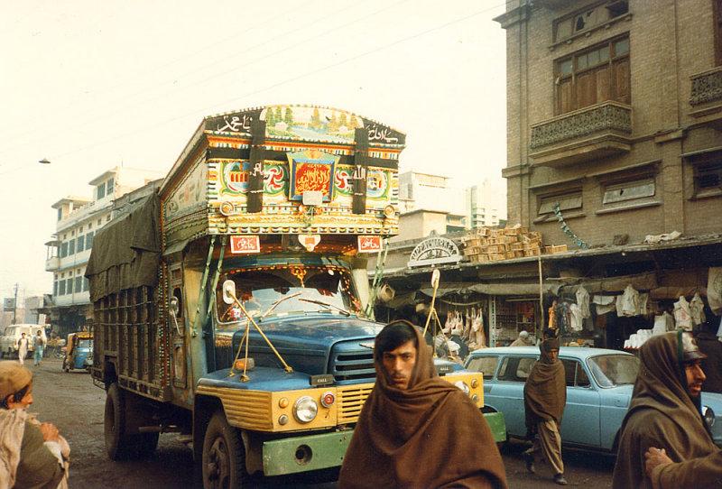 Truck in front of Uppal Market - Peshawar