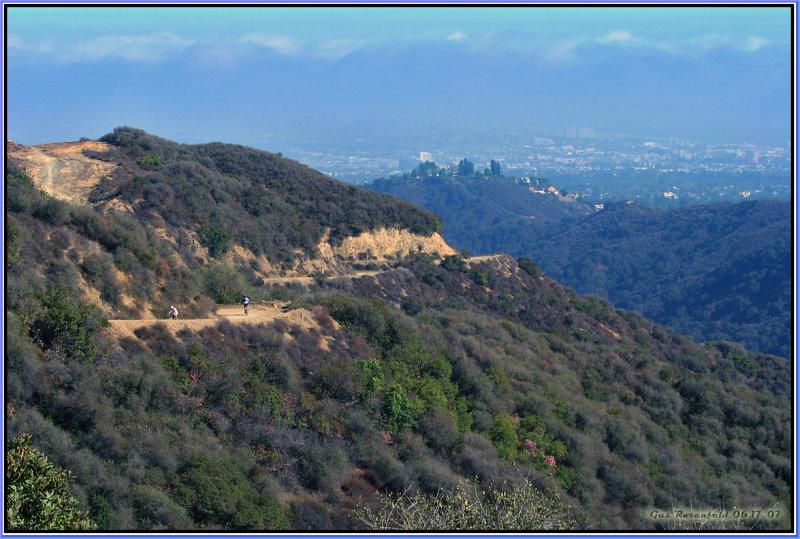 Santa Monica Mountains, Looking South Toward Palos Verdes Under Marine Layer