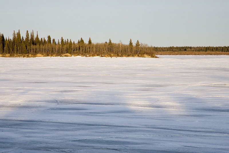 Looking across the Moose River just before sunset
