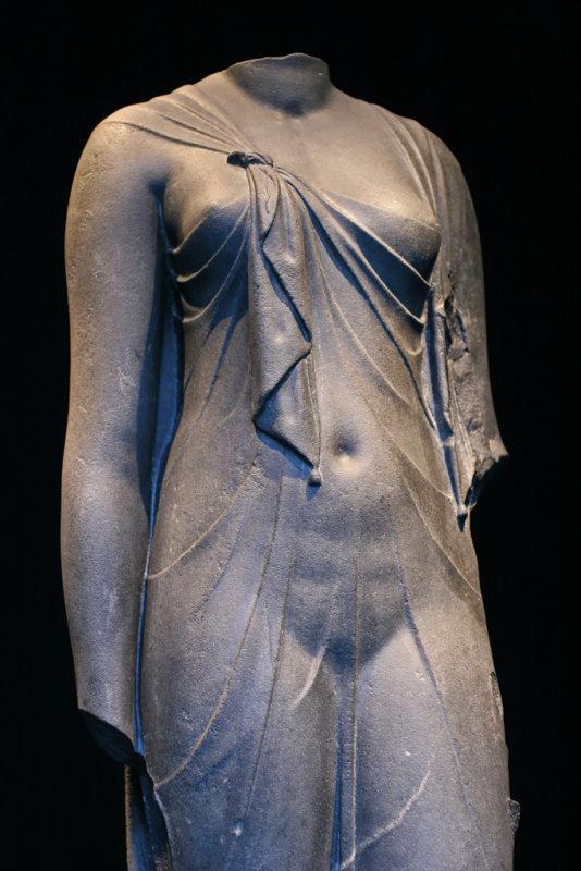 Arsinoé présentée pendant lexposition Trésors engloutis dEgypte au Grand Palais à Paris