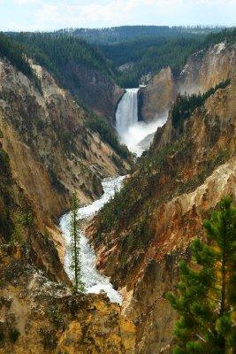 Lower Falls, Yellowstone Canyon, Yellowstone National Park