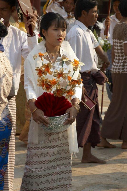 Ceremony in Shwezigon Pagoda
