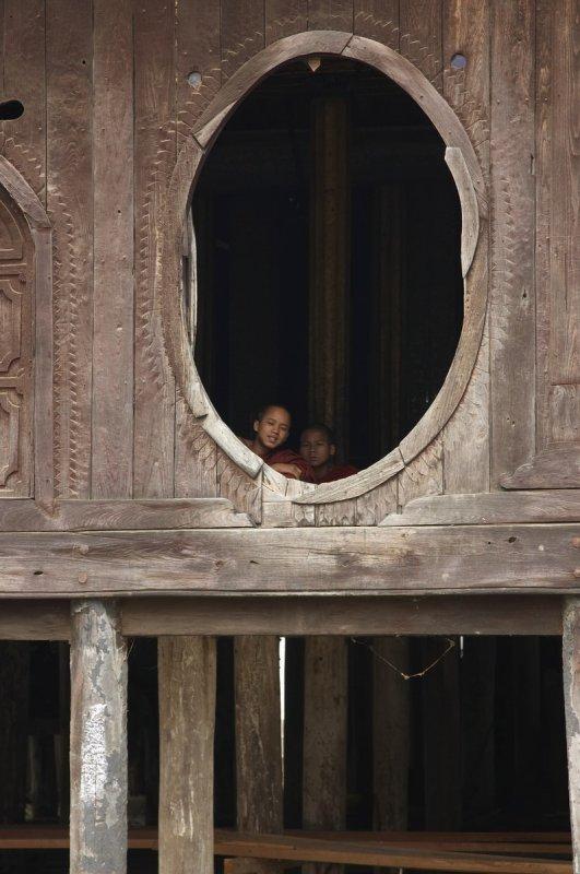 Young monks in Shwe Yan Pyay monastery