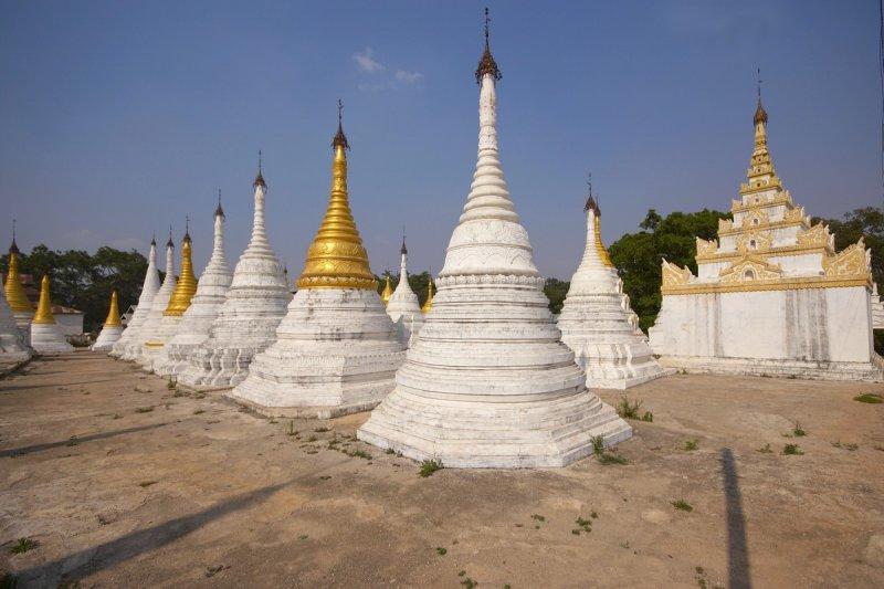 Stupas near Pindaya Cave