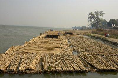 Bamboo raft, Ayeyarwaddy river