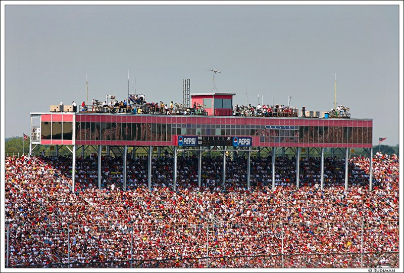 Grandstands from our seats in turns 1 & 2