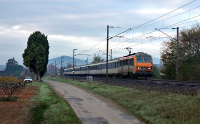The BB26075 near Pignans, heading to Nice.