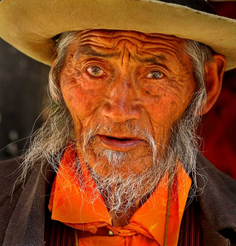 Elder at Drepung Monastary