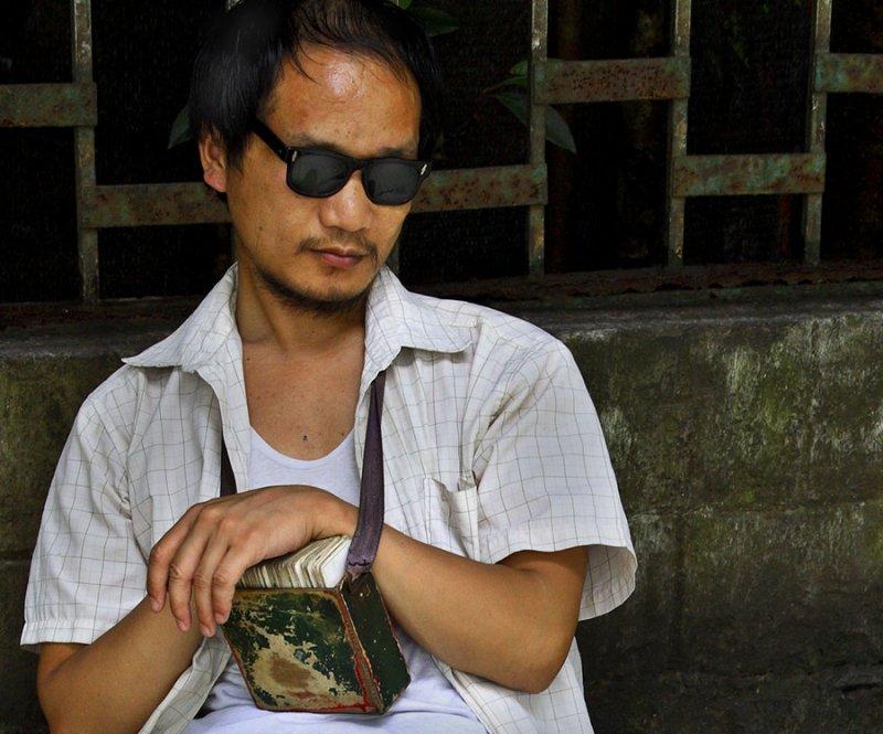 Blind fortune teller.