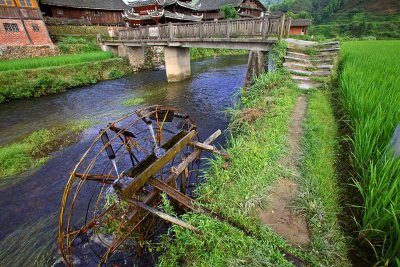 2424 Waterwheel north by 5 km in Hunan Province.