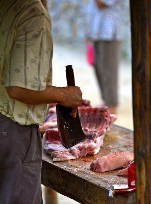 3029 Outdoor butcher shop.