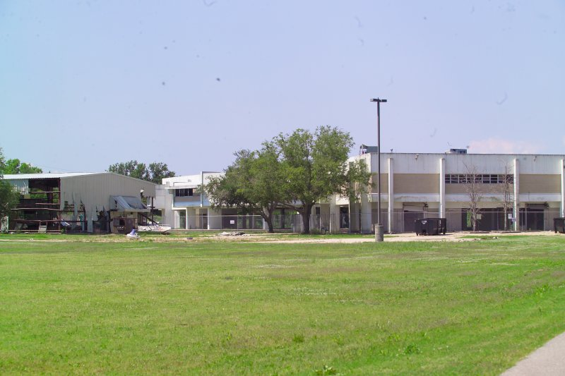 Back of St Bernard High School