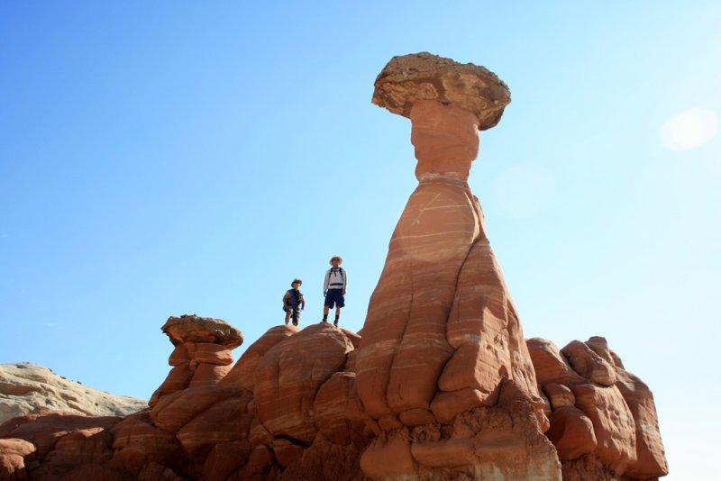Lots of hoodoos and balanced rocks