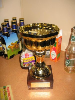 Parky used my trophy to collect all his brass and rubbish