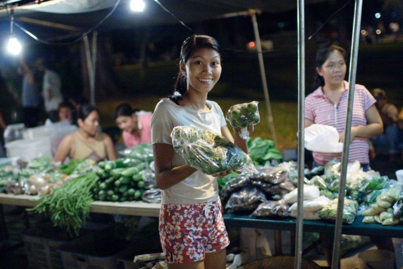 My Wife at Night market