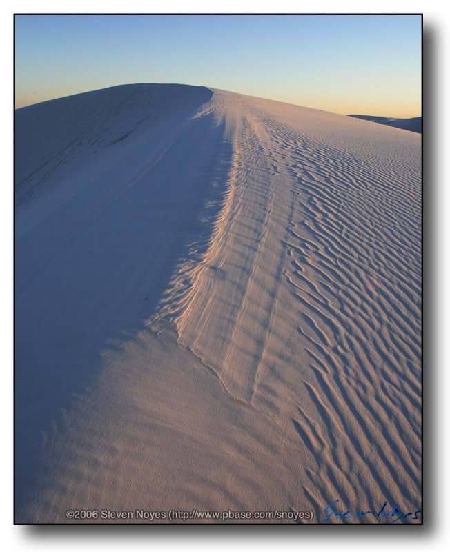 White Sands : Dune Crest at Sunset