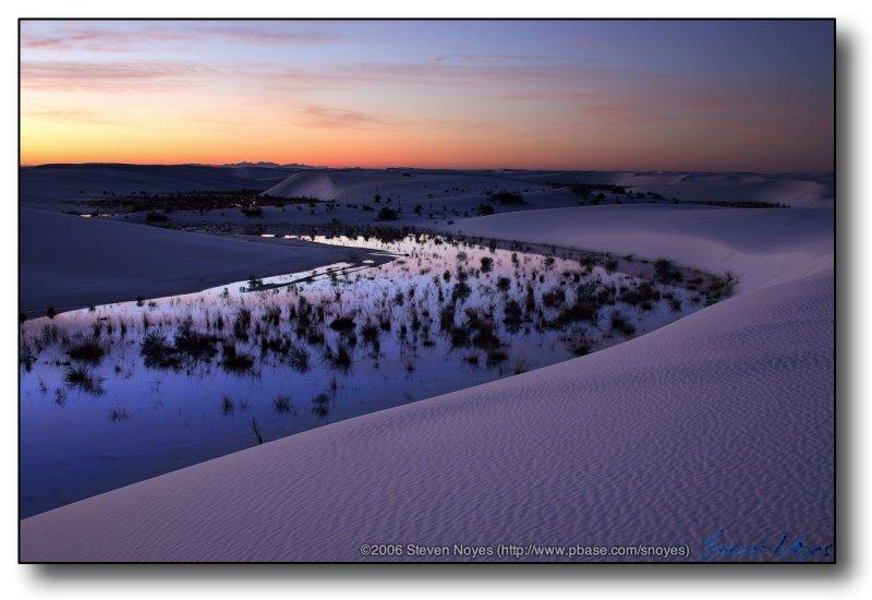 White Sands : Lake at White Sands