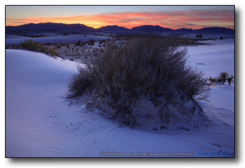 White Sands : White Sands Sunset