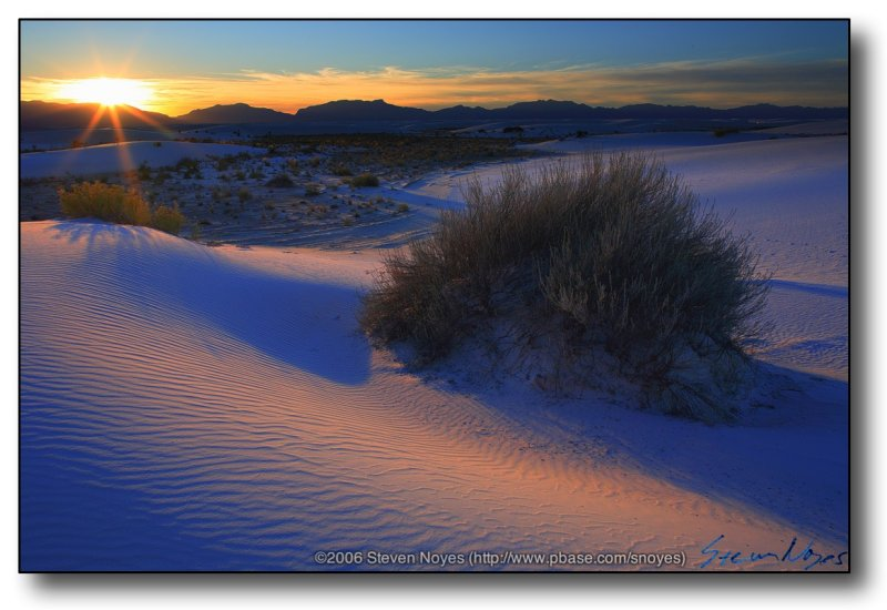 Sunset Star at White Sands